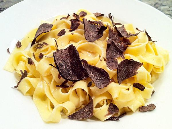 Tagliatelle and Black Truffle Cream Sauce